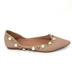 EtvMiva Sz 35 US 5 Ballet Flats Pointed Toe Jewels